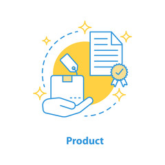 Product launch concept icon
