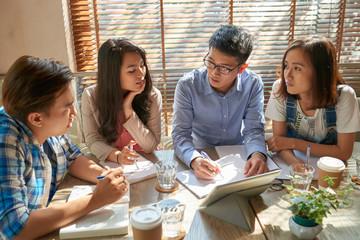 Teacher expaining topic