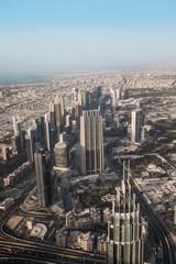 Top view of Dubai city in UAE