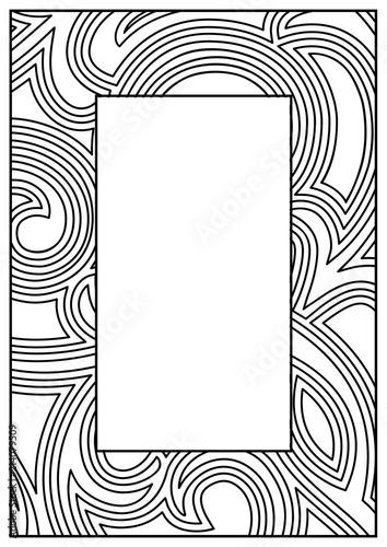 Frame Border Design Template Black And White Decorative Vector