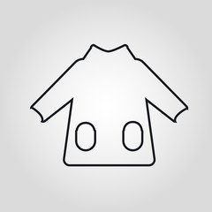 Pullover or sweater isolated linear vector icon