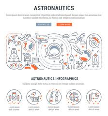 Linear Banner of Astronautics.