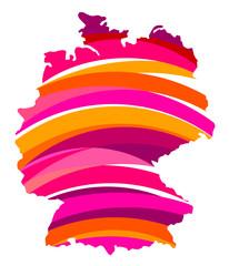 Karte Deutschland - 9