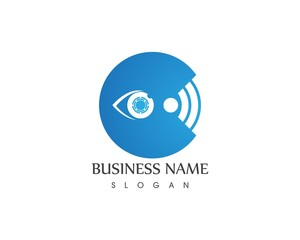Eye care focus logo design vector icon