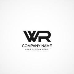 Initial Letter WR Logo Template Design