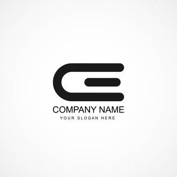 Initial Letter CE Logo Template Design