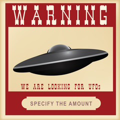 Warning search for UFOs