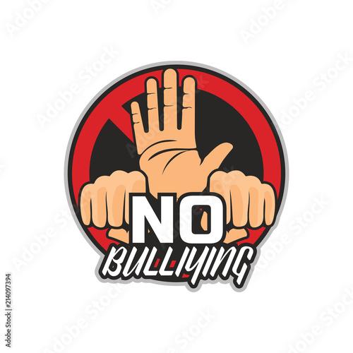stop bullying no bullying logo vector illustration stock image