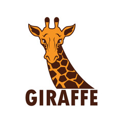 giraffe logo, vector illustration
