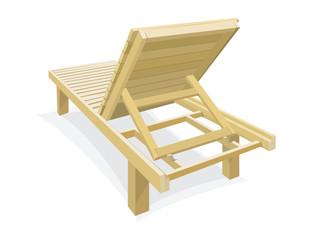Wooden beach chair