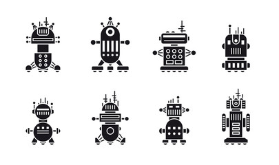 Set of robot icons