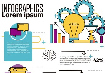 Communication and Brainstorming Infographic Layout