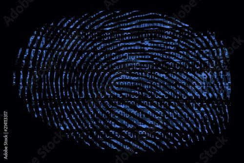 A fingerprint with a binary code inside