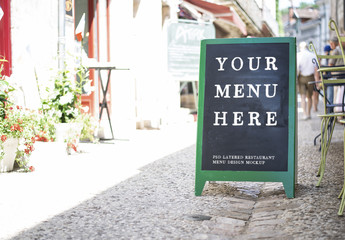 Restaurant Chalkboard Mockup