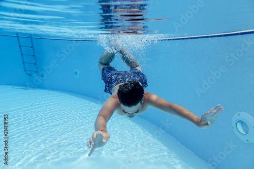 Boys having joy in the pool