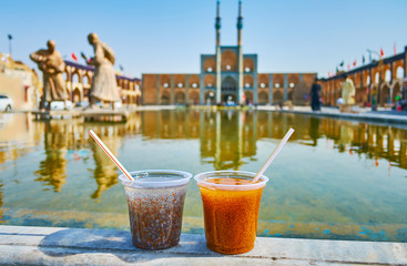 Persian chia seeds drinks, Yazd, Iran
