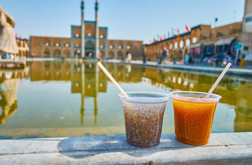 Traditional Persian summer drinks, Yazd, Iran
