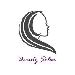 Vector logo design template for beauty salon
