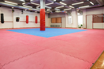 photo of boxing space in sporty gym