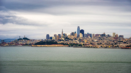 Wall Mural - San Francisco skyline panorama