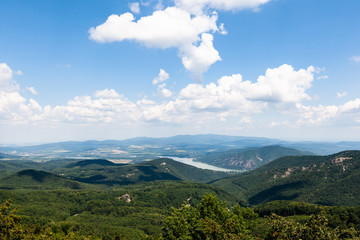 Landscape of Pilis mountains at summer in Hungary