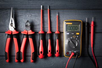 Professional tools for electrician