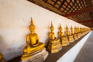 Beautiful Old Buddha sculpture in laos