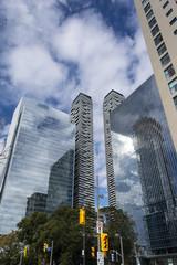 Glass skyscrapers in Toronto