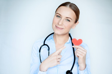 Conceptual photo of heart care