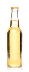 yellow Whisky Bottle isolated on white background