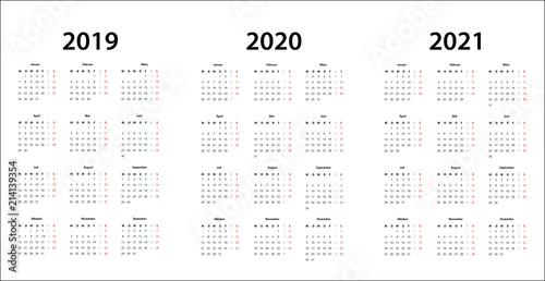 kalender 2019 2020