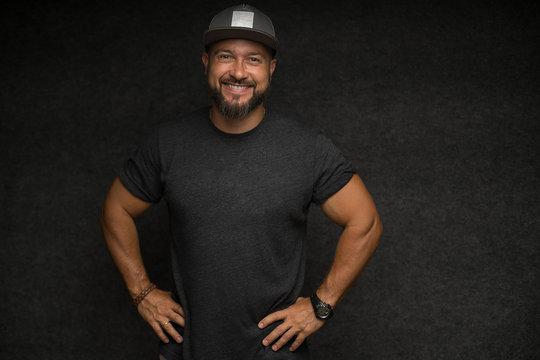 man with beard in cap