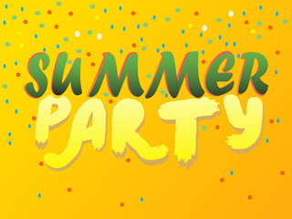 Summer Party note in illustration