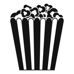Cinema popcorn box icon. Simple illustration of cinema popcorn box vector icon for web design isolated on white background