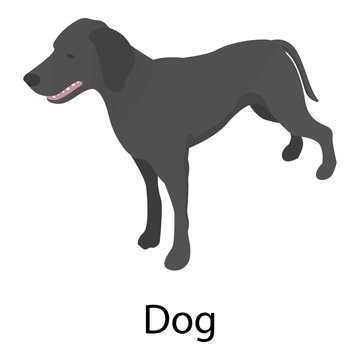 Dog icon. Isometric of dog vector icon for web design isolated on white background