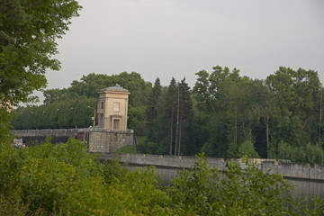 Natural landscape -  Lock on the Moscow Canal