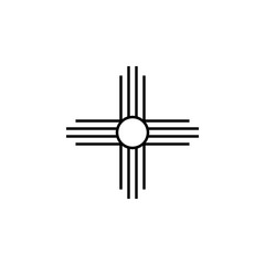 Native American Sun sign icon. Element of religion sign icon for mobile concept and web apps. Detailed Native American Sun icon can be used for web and mobile