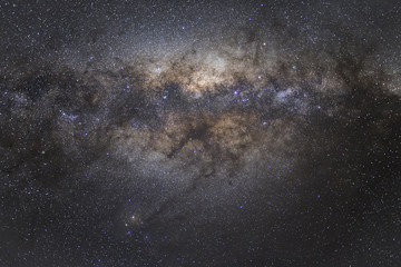 Sagittarius the constellation that show us the center of our home, our Galaxy the Milky way and in the center of the bright area a black hole keep on growing