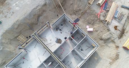 Luftaufnahme Rohbau Haus