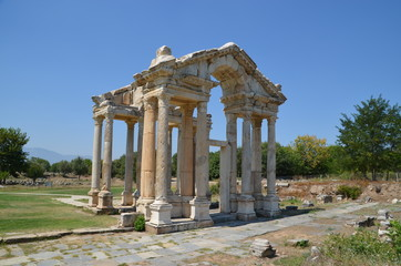 Aphrodisias ancient greek city tyrkey caria ruins stones marble summer
