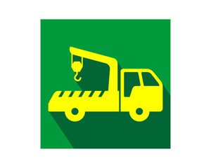 crane car vehicle conveyance transport transportation image vector icon logo