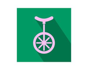 one wheel vehicle conveyance transport transportation image vector icon logo