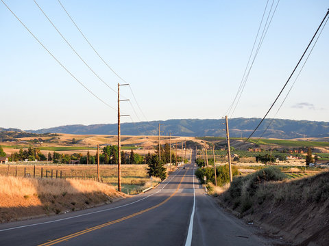 Sunset on Greenville Road at Tesla Road, Livermore Wine Country, California