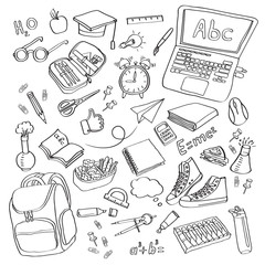 School clipart Vector doodle school icons symbols