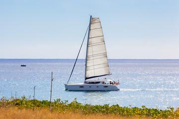 catamaran, promenade en mer
