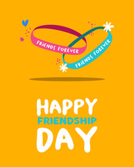 Happy friendship day friends forever bracelet card