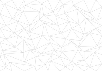 Abstract gray line triangle polygon on white background vector illustration. Wall mural