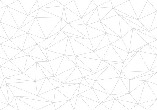 Abstract gray line triangle polygon on white background vector illustration.