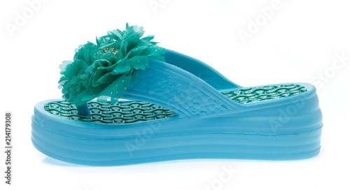 6aa27cd1c41b flip-flop with flower isolated on white background