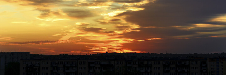 Fototapete - beautiful colorful sunset